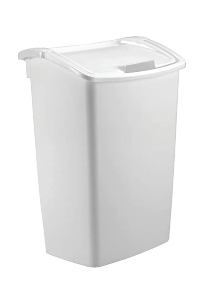 Amazon Com Rubbermaid Dual Action Swing Lid Trash Can For Home