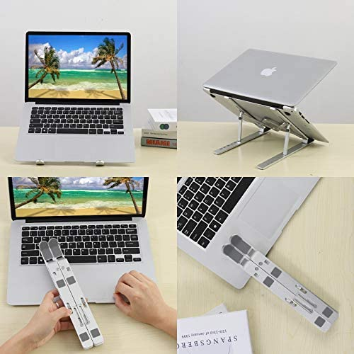 "Laptop Stand for Desk,Adjustable Laptop Holder Computer Stands,Ergonomic Aluminum Portable Notebook Tablet Riser,Anti-Slip 7 Angles Laptop Riser Compatible with 9~17"" Laptops"