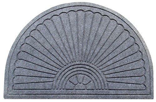 Sunburst Round Half (A1 Home Collections A1HCPR69-EP09 Doormat Half Round Sunburst, Skid Resistant,Waterhog Standard)