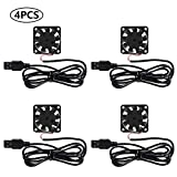 40mm x 10mm DC 5V USB Brushless Cooling Fan, 4Pack Speed 4200 RPM Fan for Small Appliances Series Replacement