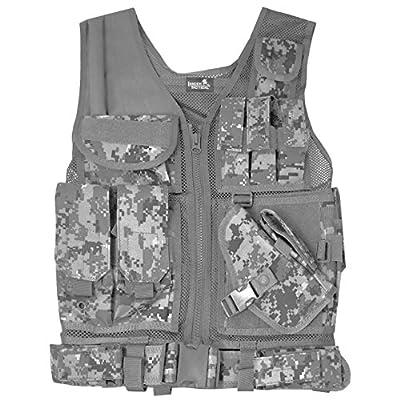 Lancer Tactical Ca-310b Cross Draw Vest in Black (ACU Digital Camo)