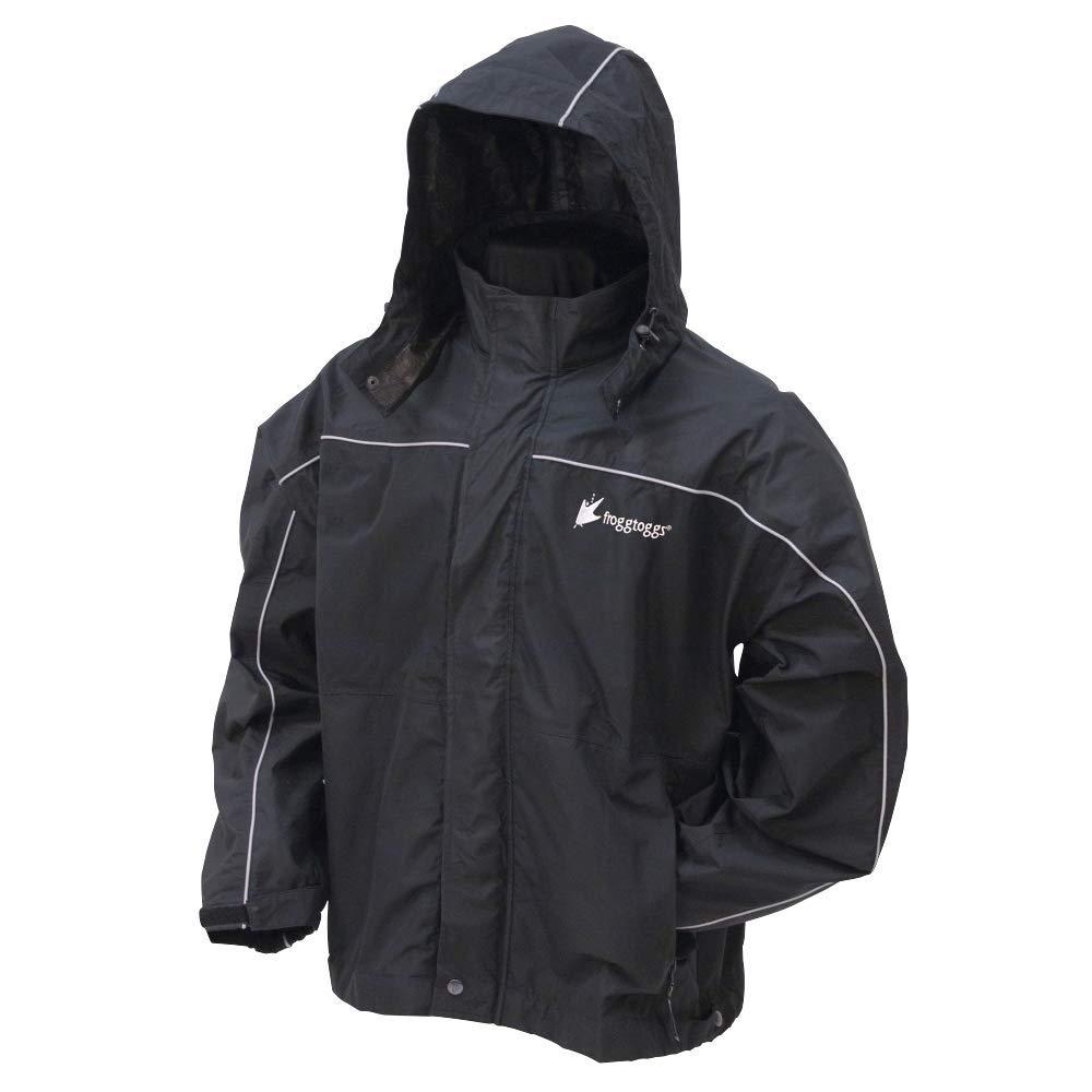 Frogg Toggs Toadz Highway Reflective Jacket NTH65125-012X, Black, 2X