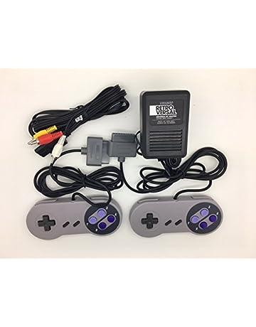 Super Nintendo SNES Controllers, AV Cable and Power Adapter Bundle for the Original Super Nintendo