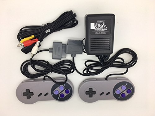Super Nintendo SNES Controllers, AV Cable and Power Adapter Bundle for the Original Super Nintendo SNES Console System TBGS from Two Brothers Game Store