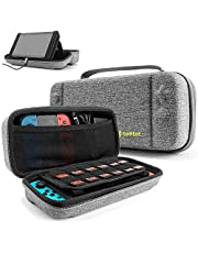 tomtoc Original Smart Series Travel Hard Case Compatible Nintendo Switch Console Accessories and 18 Game Cards with Handle