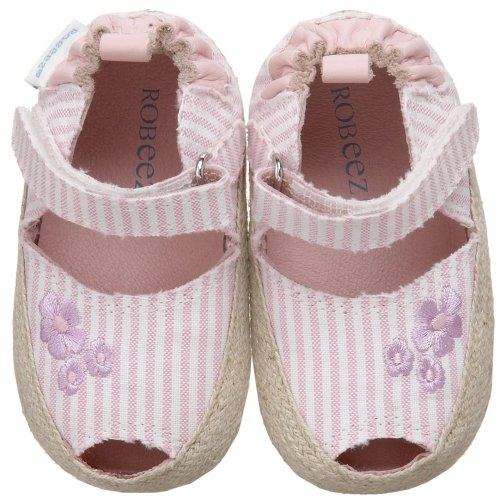 Shoes 2010 Mini - Robeez Mini Shoez Summer Stripes Mary Jane (Infant/Toddler),Pink,3-6 Months (2 M US Infant)