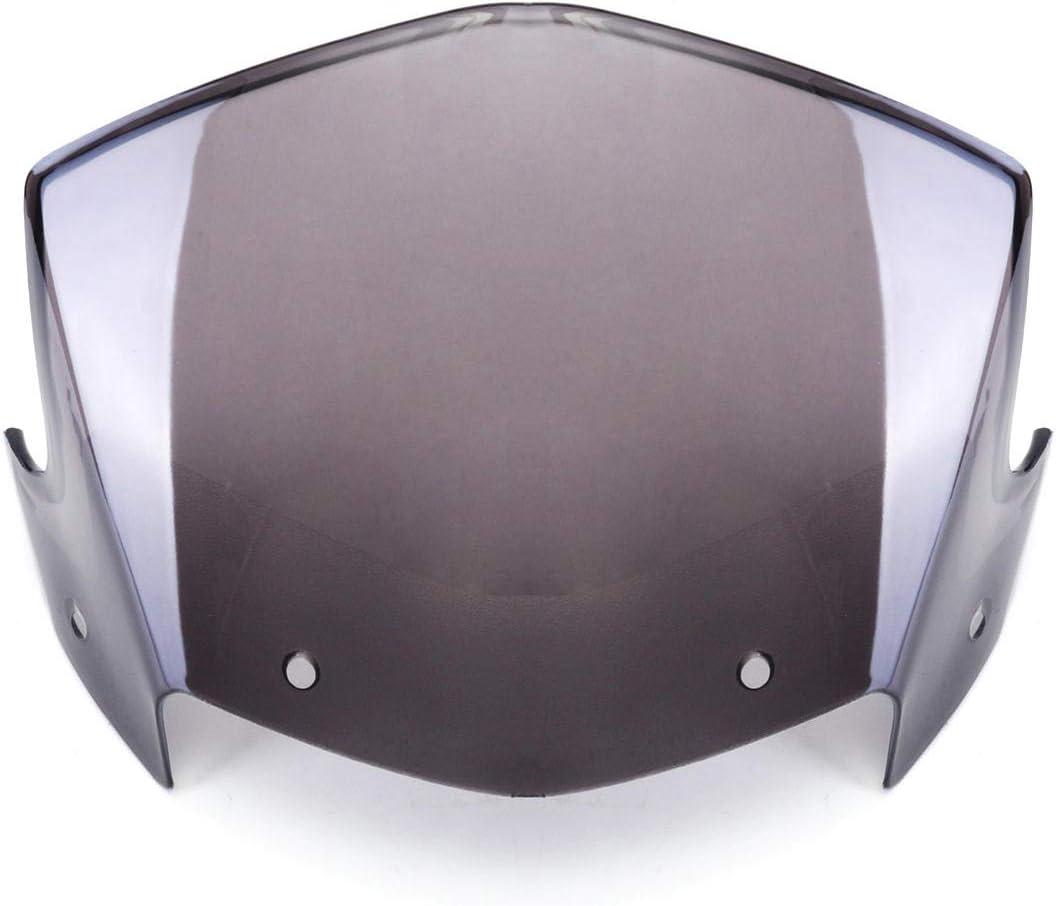 Unbekannt Scheinwerferverkleidung Windschutzscheibe Windschutzscheibe Für Yamaha Ybr125 2014 2017 Sport Freizeit