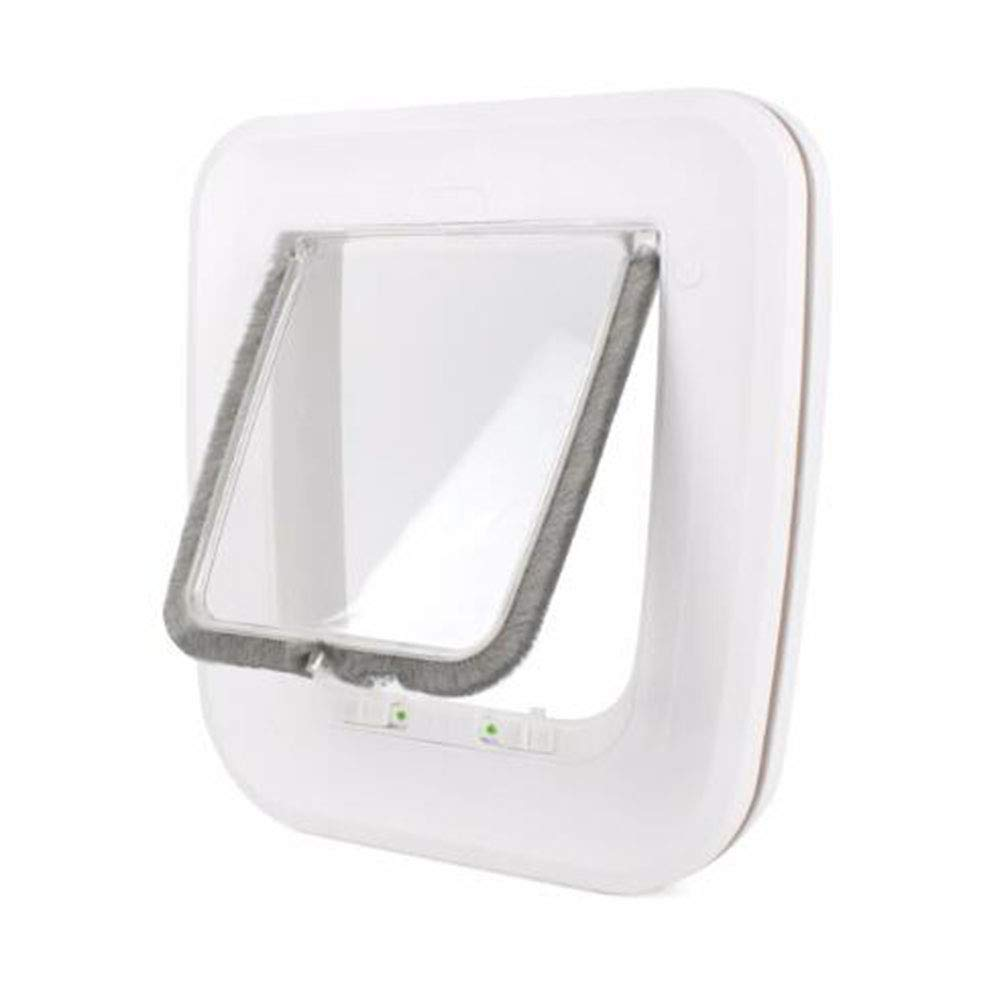 Cat Flap Pet Doors Dog Puppy Door Pet Supplies White Door Hole Easy Install Durable 25.5  24.5  5.2cm