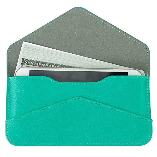(Women's Card Wallet Envelope Style Credit Card Holder Cute Cash Wallet for Ladies (Green) )