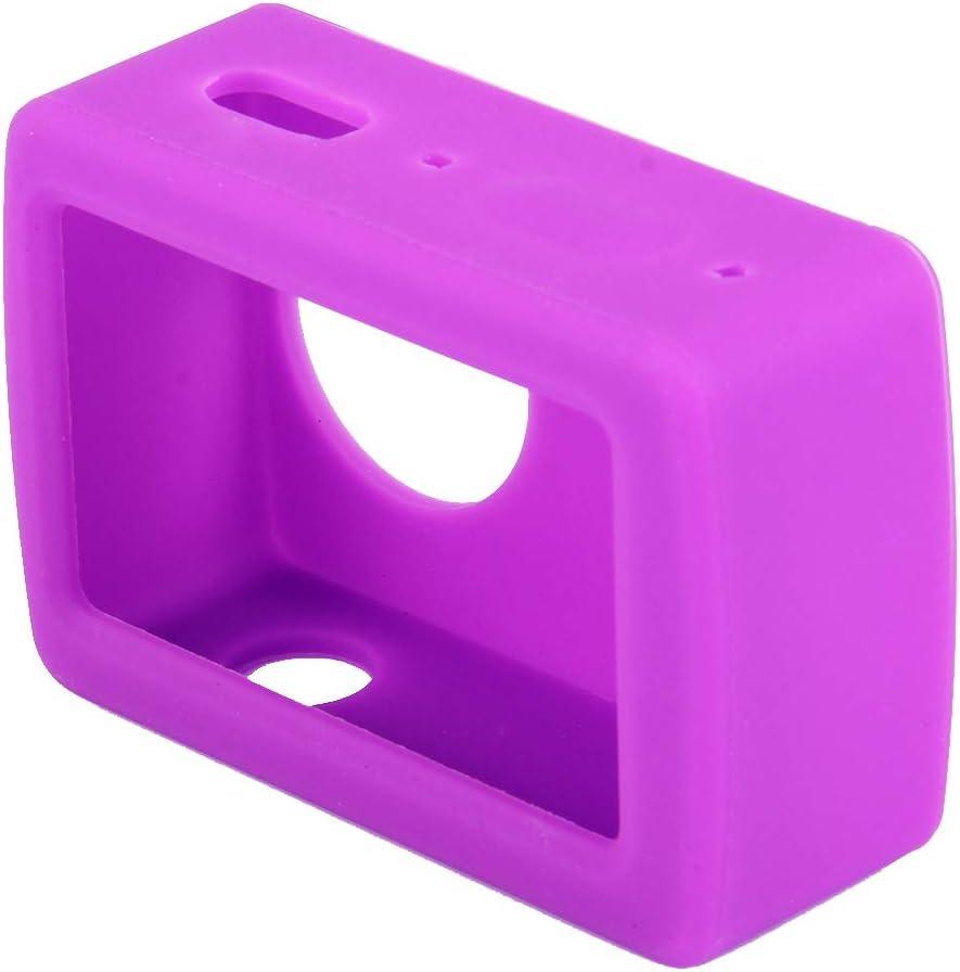 Color : Purple Black MEETBM ZIMO,for Xiaomi Xiaoyi Yi II Sport Action Camera Silicone Housing Protective Case Cover Shell