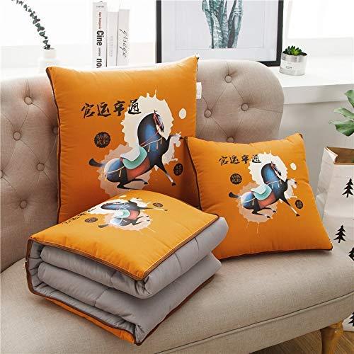 VEA-DE VEA-DE VEA-DE Creative Kissenbezug für Sofa Schlafzimmer, Bedrucktes Kissen aus Baumwolle ist Baumwollsteppdecke ist kühle Steppdecke (Farbe  Orange, Größe  50  50 cm) (Farbe   Orange, Größe   50  50cm) B07LGV93KL Kopfkissenbezü e07627