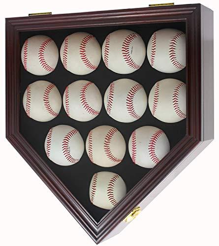12 Baseball Display Case Wall Cabinet Shadow Box W/UV Protection Door, B212(UV) - Display Baseball Cabinets