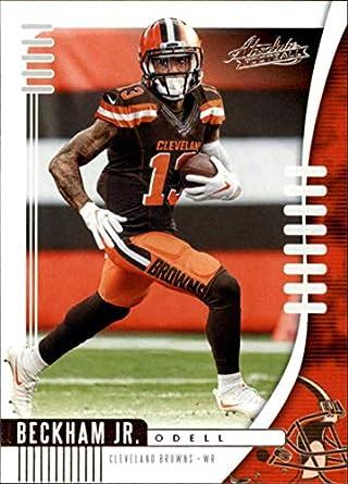 hot sale online 8f4a2 a8359 Amazon.com: 2019 Absolute NFL (Retail) #20 Odell Beckham Jr ...