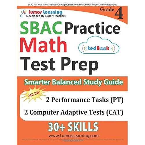 Sbac Test Prep 4th Grade Math Common Core Practice Book And Full