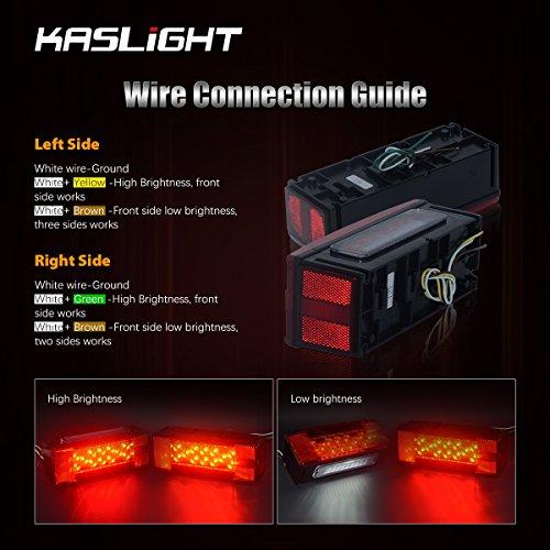 Kaslight Boat Trailer Lights Marine Trailer Lights Waterproof Ip68