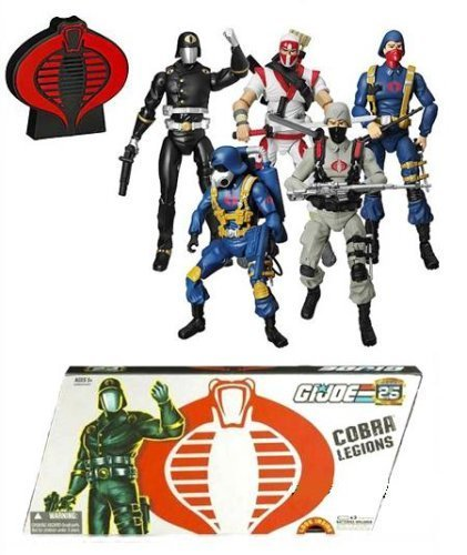 GI Joe 25th Anniversary Cobra Legions 5-Pack Box Set (Gi Joe The Rise Of Cobra Shipwreck)