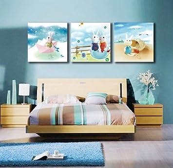 Moderne Home, Wanddeko, Für Kinderzimmer, Malen, 3 Panele, GicléE Druck
