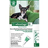 Bayer Topical Flea Treatment for Dogs up to 10 lbs (4 Applications)