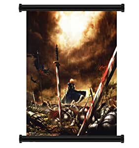 """Fate Stay Night / Fate Zero Anime Fabric Wall Scroll Poster (32"""" x 47"""") Inches"""