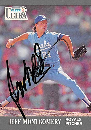 Jeff Montgomery autographed Baseball Card (Kansas City Royals, 67) 1991 Fleer Ultra #153 - Baseball Slabbed Autographed Cards