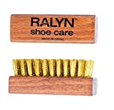 Ralyn Brass Suede Brush. Brass Bristles and Solid Wood Block. 2-Set.