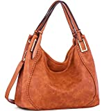 JOYSON Women Handbags PU Leather Shoulder Bags Top-Handle Satchel Tote Bags Purse Brown