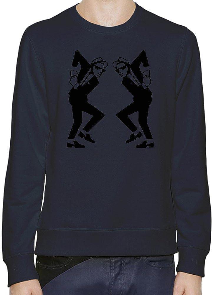 Ska Man Rude Boy Dancing Black Stencil Sudadera Hombres Mujeres XX-Large: Amazon.es: Ropa y accesorios