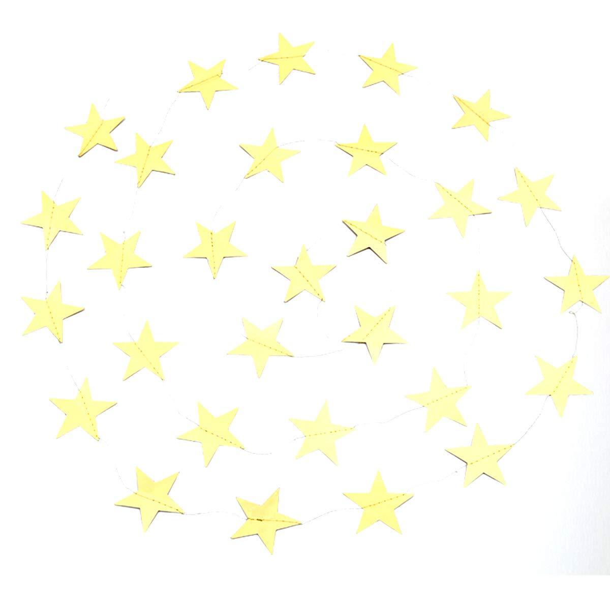 Baby Shower Compleanni Yuccer 4 Pacco Ghirlanda Carta Decorative Glitter Decorazioni Stelle Carta da Appendere per Matrimoni Natale Argento 52 Piedi