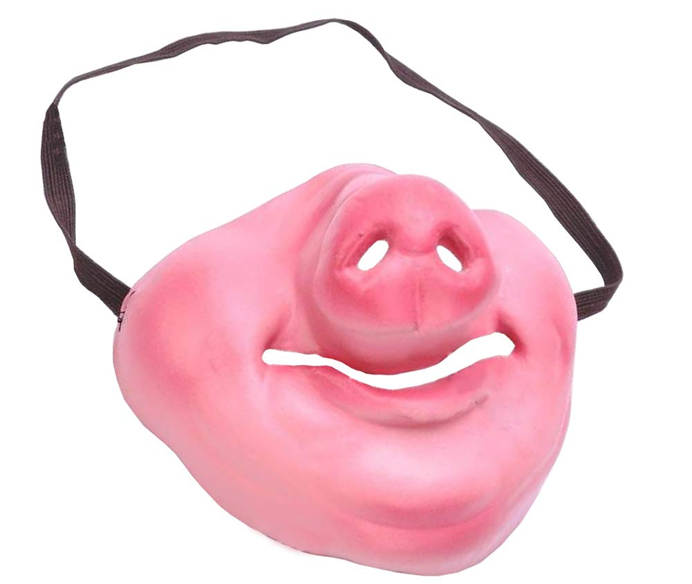 Latex Half Pig Mask Cosplay Costume Accessory Novelty Giant