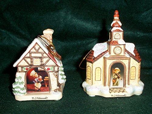 (The Bradford Edition - MI Hummel Bavarian Village Ornaments (Village Baker & Heavenly Harmony))