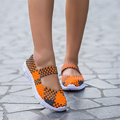 Sportive Ginnastica Tessuto Donna da L su Arancia Antiscivolo Scarpe Casual Leggero RUN in Scarpe tqIIPY