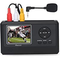 DIGITNOW!Personal Media&Digital Converter.Transferring Device to Capture Video from VCRs,VHS Tapes,Hi8,Camcorder,DVD,TV BOX and Gaming Systems,etc Via MIC&3.5mm AV in.Digitize Videos to Memory Card