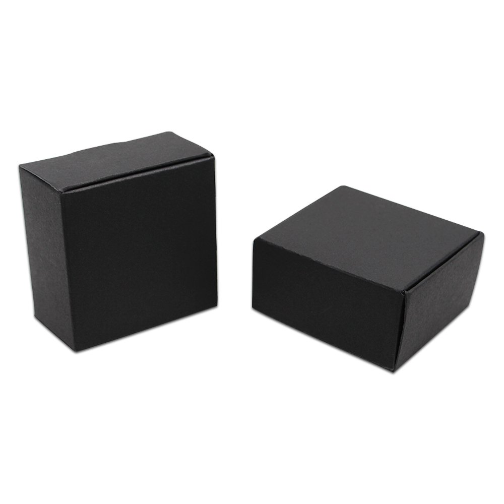 黒い クラフト紙 包装箱 収納ケース 包装ボックス パーティー 手作り 石鹸 キャンデー ジュエリー ストレージ 収納ボックス 折り畳み箱 6.5 x 6.5 x 3 cm (250) B07K98X631  250