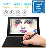 2017 Newest Lenovo Yoga Book 10.1 FHD Touch IPS 2-in-1 Convertible Tablet PC, Intel Atom x5-Z8550 1.44GHz, 4GB RAM, 64GB SSD, Bluetooth, HD Graphics, Android 6.0.1 Marshmallow OS- Champagne Gold