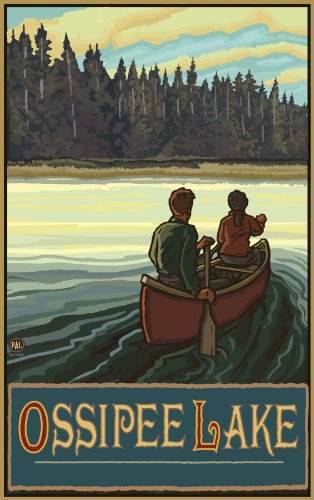 Northwest Art Mall New Hampshire Canoe Ossipee Lake Wall Artwork by Paul A. Lanquist, 11 by - In Malls New Hampshire