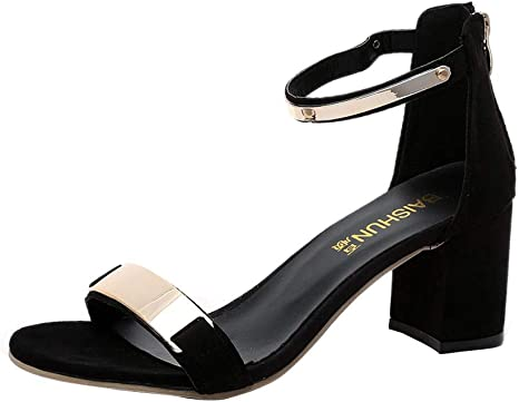 new lower prices finest selection check out Amazon.com: Summer Sandals Open Toe Women Sandles Thick Heel Shoes ...