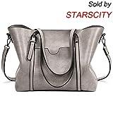 Best Fashion Tote Purses - STARSCITY Shoulder Bag Fashion Top Handle Satchel Handbags Review