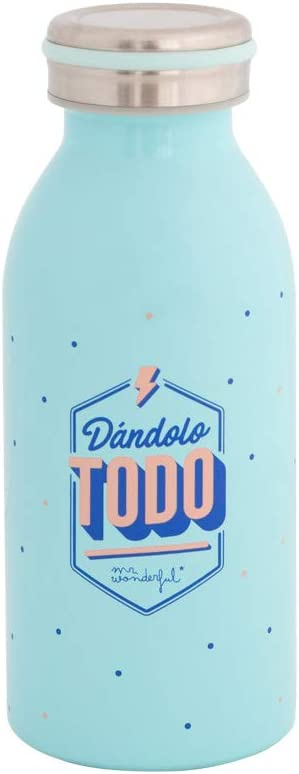 Mr. Wonderful Botella-Dándolo Todo, Multicolor, única