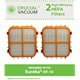 2 HF-10 HEPA Filters for Eureka 8800, 8850, 8900 Series Vacuums; Compare to Eureka Part Nos. 63347, 633489, 67810-2, H14017, 63358; Designed & Engineered by Think Crucial
