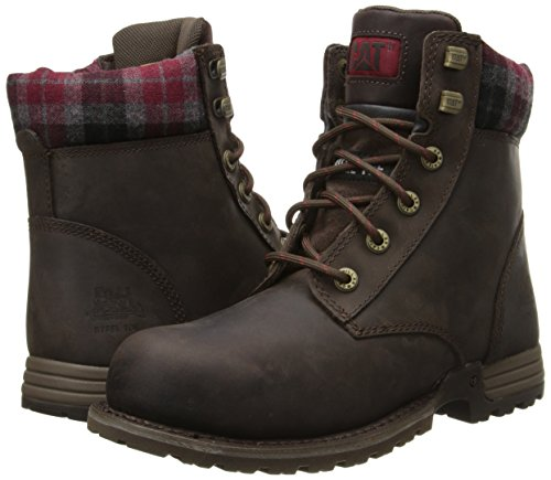 Caterpillar Women's Kenzie Steel Toe Work Boot, Bark, 9 M US by Caterpillar (Image #6)
