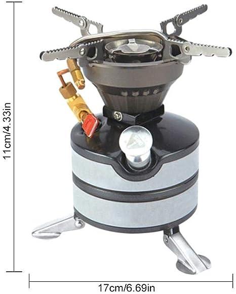 Hornillo portátil para camping al aire libre, doble horno de ...