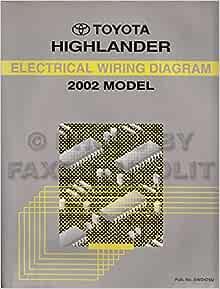 Toyota Highlander 2002 Model: Electrical Wiring Diagram (Toyota Repair  Manuals): Toyota Motor Corporation: Amazon.com: BooksAmazon.com