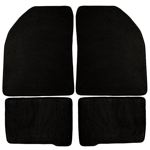 - Coverking Front and Rear Floor Mats for Select Chevrolet Chevelle Models - 40 Oz Carpet (Black)