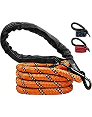 Candure Dog Lead with Soft Padded and Anti Slip Comfortable Rope Handle, 5 FT Strong Dog Leads, Highly Reflective Dog Leash for Puppy