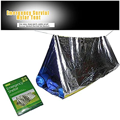 Emergency Tube Tent 2 Person Mylar Thermal Camping Shelter Waterproof | Best Survival Gear