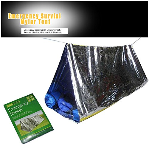 Emergency-Tube-Tent-2-Person-Mylar-Thermal-Camping-Shelter-Waterproof-Best-Survival-Gear