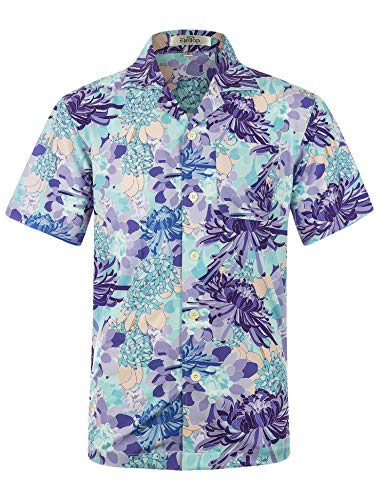530e52b4 Men's Hawaiian Shirt Short Sleeve Aloha Shirt Beach Party Flower Shirt  Holiday Print Casual Shirts L2