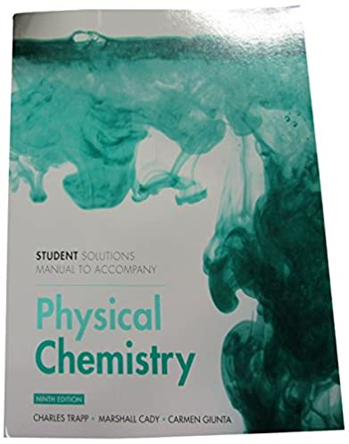 student solutions manual for physical chemistry peter atkins julio rh amazon com Physics Solutions Manual Student Solutions Manual Digital Designs