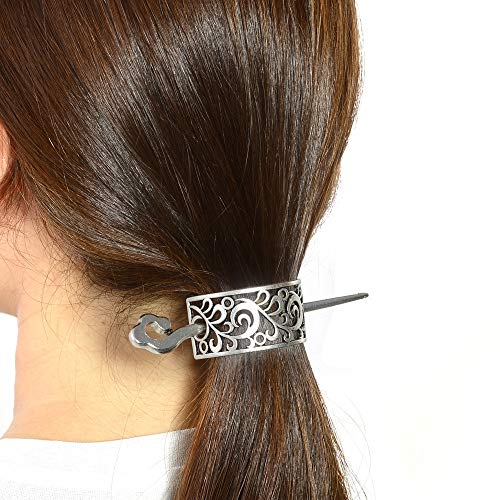 (Medieval Hairpin Hair Accessories Barrettes-Irish Celtic Knot Hairclip for Mom Sister Long Hair Stick Slide Extra Large Hair Pin Nordic Hair Slide Viking Hairpin Celtic Symbols Fantasy Steampunk Gothi)