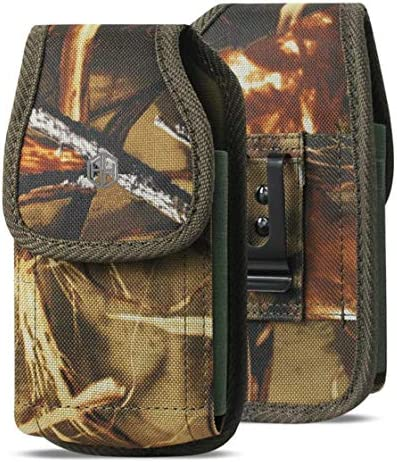 iPhone 6 6S 7 8 X XR XS Military Grade Cell Phone Case 4.7 Rugged Outdoor Carry Pouch Belt Clip Compatible w// Kyocera DuraForce rugged Canvas Holster Fits Phone with Battery Case 11 Pro